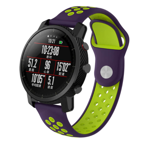 Strap-it® Strap-it® Xiaomi Amazfit Pace sport band (paars/geel)