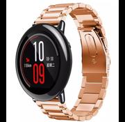 Strap-it® Xiaomi Amazfit Pace stalen band (rosé goud)