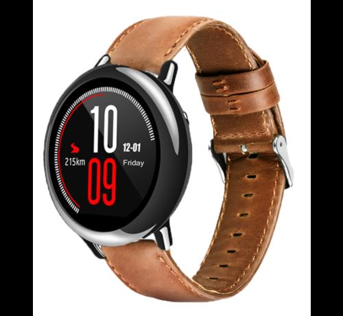 Strap-it® Strap-it® Xiaomi Amazfit Pace leren bandje (bruin)