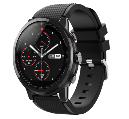 Strap-it® Strap-it® Xiaomi Amazfit Stratos silicone band (zwart)