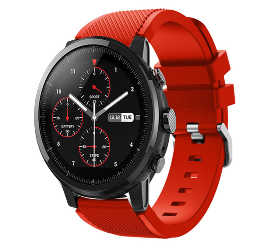 Strap-it® Xiaomi Amazfit Stratos silicone band (rood)