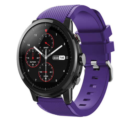 Strap-it® Strap-it® Xiaomi Amazfit Stratos silicone band (paars)