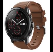 Strap-it® Xiaomi Amazfit Stratos silicone band (koffiebruin)