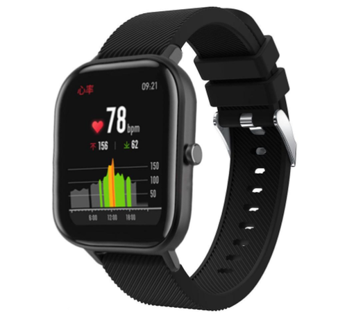 Strap-it® Strap-it® Xiaomi Amazfit GTS silicone band (zwart)