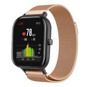 Strap-it® Xiaomi Amazfit GTS Milanese band (rosé goud)