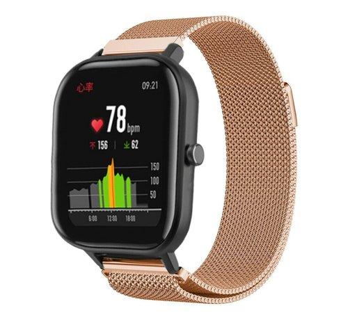 Strap-it® Strap-it® Xiaomi Amazfit GTS Milanese band (rosé goud)