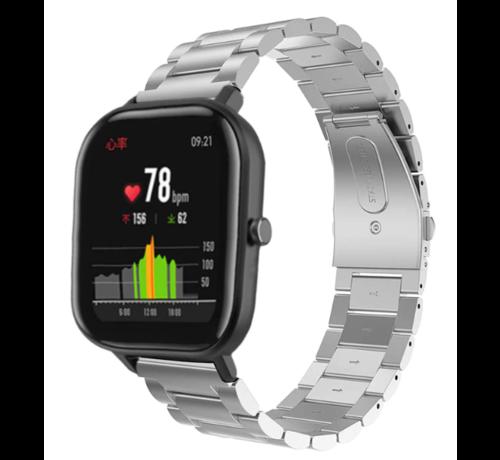 Strap-it® Strap-it® Xiaomi Amazfit GTS stalen band (zilver)