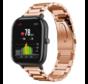 Strap-it® Xiaomi Amazfit GTS stalen band (rosé goud)