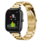 Strap-it® Xiaomi Amazfit GTS stalen band (goud)