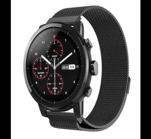 Strap-it® Strap-it® Xiaomi Amazfit Stratos Milanese band (zwart)