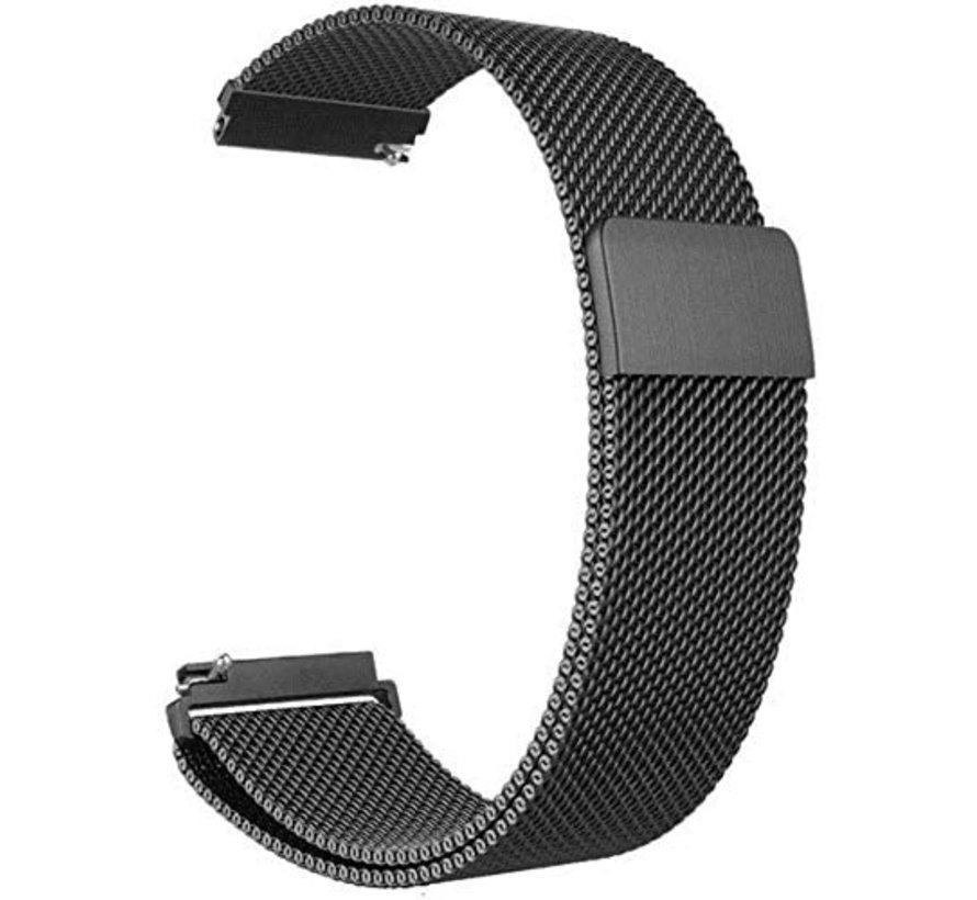 Strap-it® Xiaomi Amazfit Stratos Milanese band (zwart)