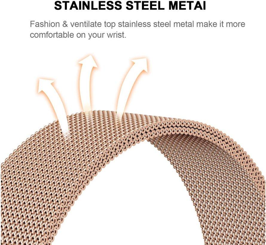 Strap-it® Xiaomi Amazfit Stratos Milanese band (rosé goud)