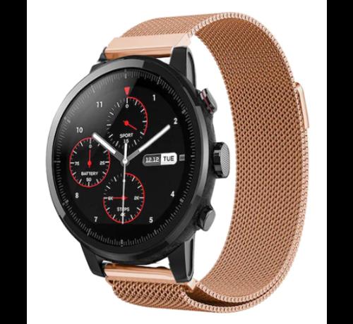 Strap-it® Strap-it® Xiaomi Amazfit Stratos Milanese band (rosé goud)