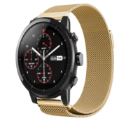 Strap-it® Xiaomi Amazfit Stratos Milanese band (goud)