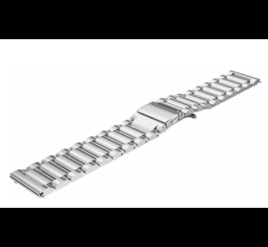 Strap-it® Xiaomi Amazfit Stratos stalen band (zilver)