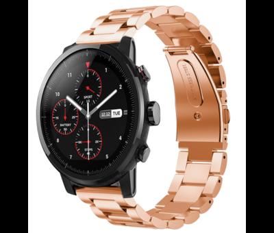 Strap-it® Strap-it® Xiaomi Amazfit Stratos stalen band (rosé goud)