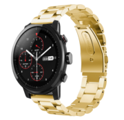 Strap-it® Xiaomi Amazfit Stratos stalen band (goud)