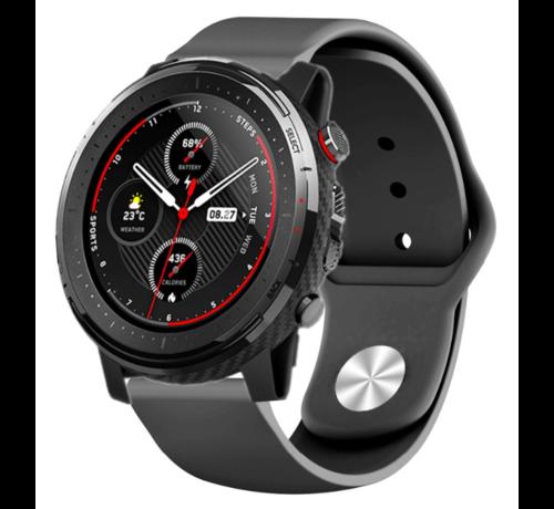 Strap-it® Strap-it® Xiaomi Amazfit Stratos sport band (zwart)