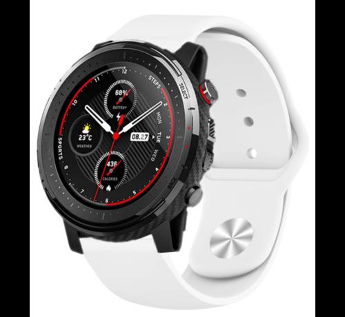 Strap-it® Strap-it® Xiaomi Amazfit Stratos sport band (wit)
