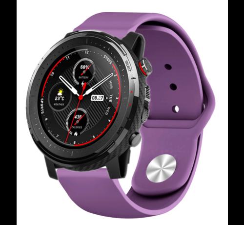 Strap-it® Strap-it® Xiaomi Amazfit Stratos sport band (paars)