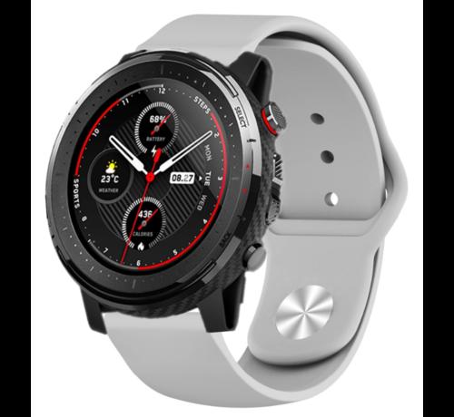 Strap-it® Strap-it® Xiaomi Amazfit Stratos sport band (grijs)
