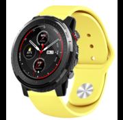 Strap-it® Xiaomi Amazfit Stratos sport band (geel)