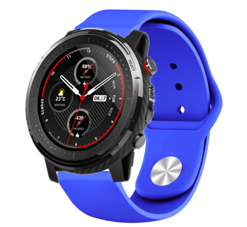 Strap-it® Strap-it® Xiaomi Amazfit Stratos sport band (blauw)