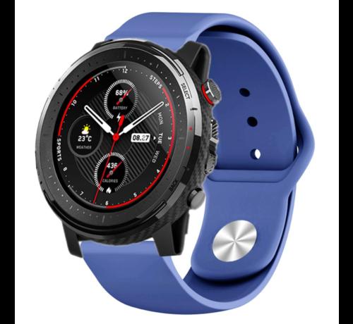 Strap-it® Strap-it® Xiaomi Amazfit Stratos sport band (donkerblauw)