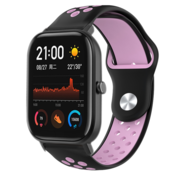 Strap-it® Xiaomi Amazfit GTS sport band (zwart/roze)