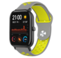 Strap-it® Xiaomi Amazfit GTS sport band (grijs/geel)