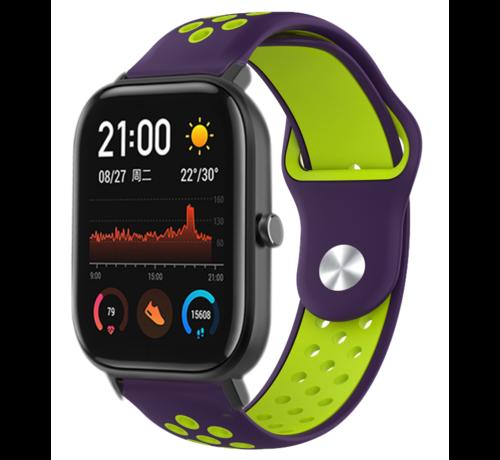 Strap-it® Strap-it® Xiaomi Amazfit GTS sport band (paars/geel)