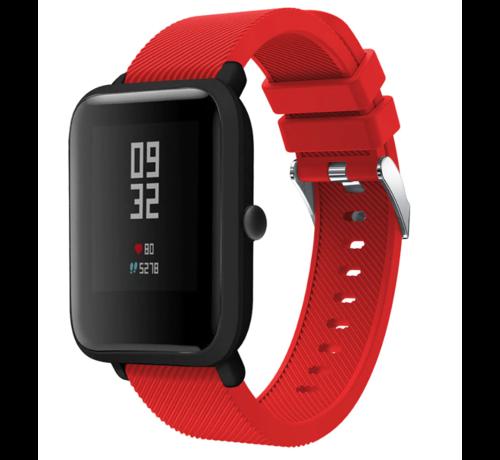 Strap-it® Strap-it® Xiaomi Amazfit Bip silicone band (rood)