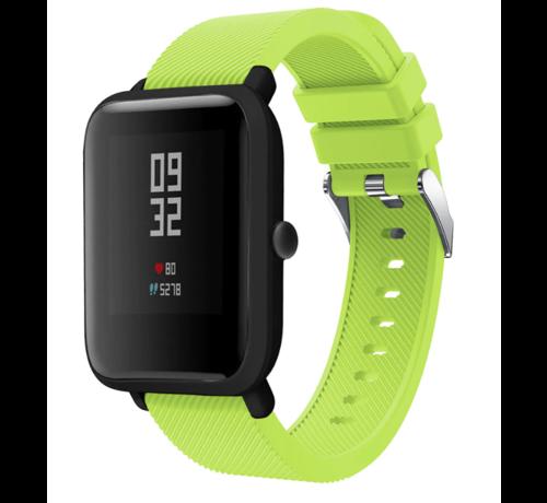 Strap-it® Strap-it® Xiaomi Amazfit Bip silicone band (lichtgroen)
