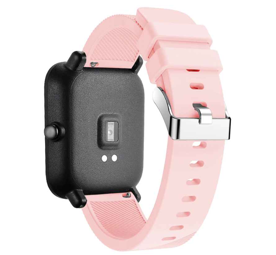 Strap-it® Xiaomi Amazfit Bip silicone band (roze)