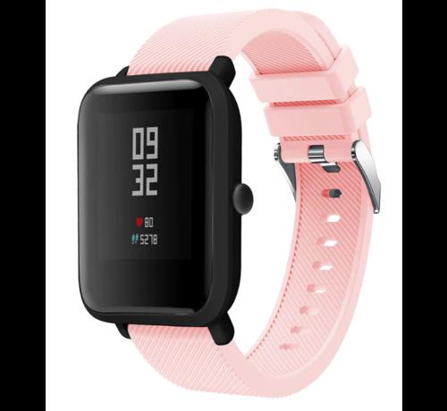 Strap-it® Strap-it® Xiaomi Amazfit Bip silicone band (roze)