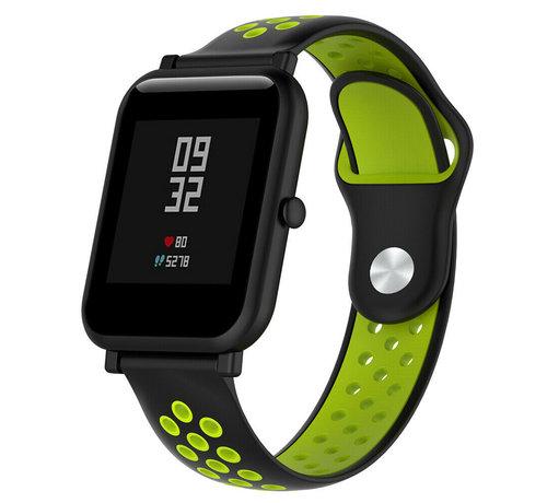 Strap-it® Strap-it® Xiaomi Amazfit Bip sport band (zwart/geel)