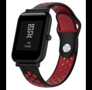 Strap-it® Xiaomi Amazfit Bip sport band (zwart/rood)