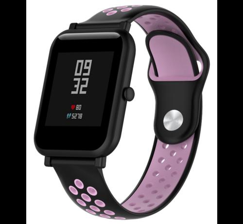 Strap-it® Strap-it® Xiaomi Amazfit Bip sport band (zwart/roze)