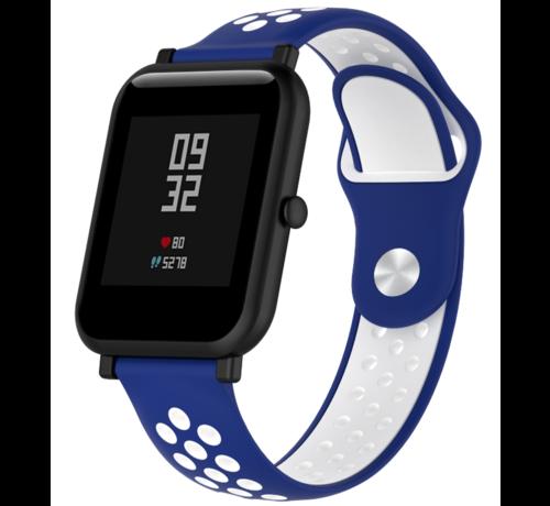 Strap-it® Strap-it® Xiaomi Amazfit Bip sport band (blauw/wit)