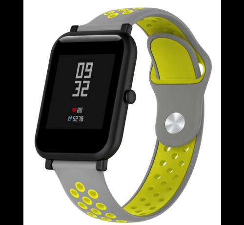 Strap-it® Strap-it® Xiaomi Amazfit Bip sport band (grijs/geel)