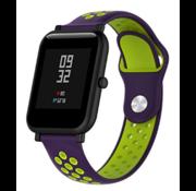 Strap-it® Xiaomi Amazfit Bip sport band (paars/geel)