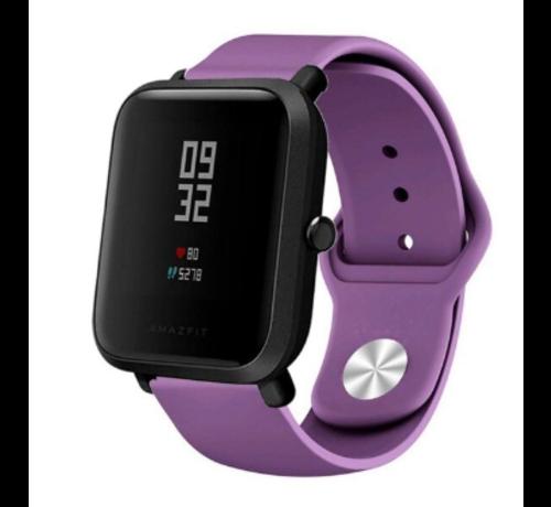 Strap-it® Strap-it® Xiaomi Amazfit Bip sport band (paars)