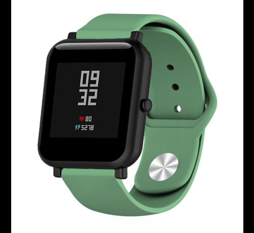 Strap-it® Strap-it® Xiaomi Amazfit Bip sport band (legergroen)