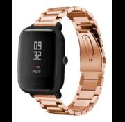 Strap-it® Xiaomi Amazfit Bip stalen band (rosé goud)