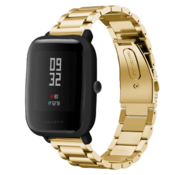 Strap-it® Xiaomi Amazfit Bip stalen band (goud)