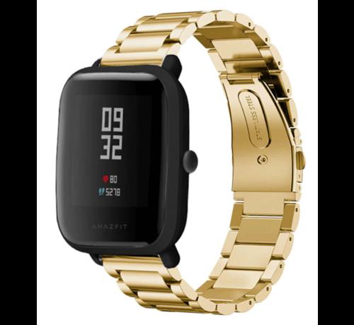 Strap-it® Strap-it® Xiaomi Amazfit Bip stalen band (goud)