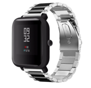 Xiaomi Amazfit Bip stalen band (zilver/zwart)