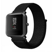 Strap-it® Xiaomi Amazfit Bip nylon band (zwart)