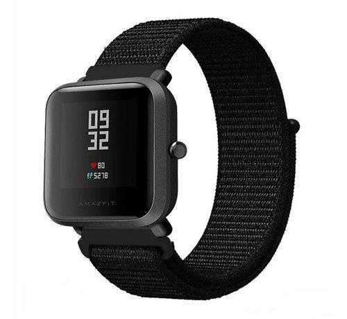 Strap-it® Strap-it® Xiaomi Amazfit Bip nylon band (zwart)