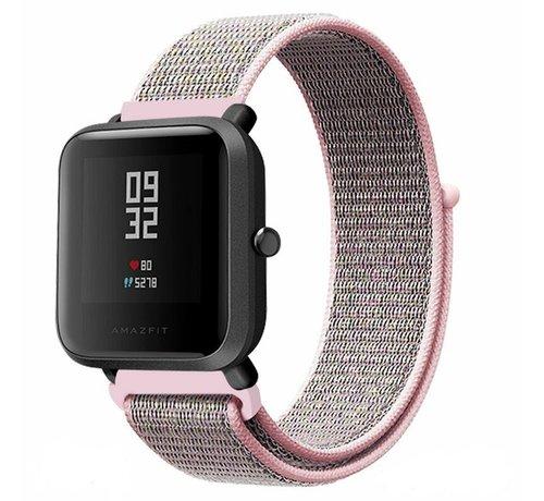 Strap-it® Strap-it® Xiaomi Amazfit Bip nylon band (pink sand)
